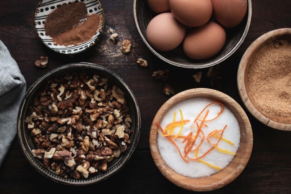 Σπάτουλα Καρδίτσας παραδοσιακή Πουτίγκα με Καρυδόπιτα και Κρέμα τοπική συνταγή υλικά