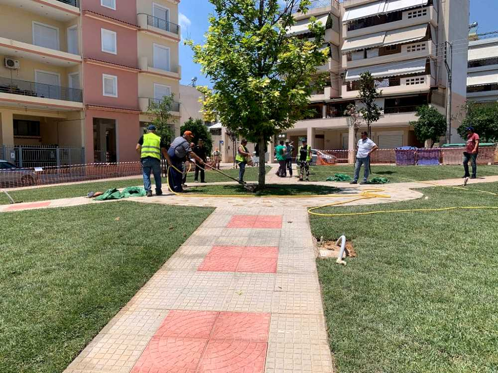 Παραδίδεται στους Δημότες η νέα Πλατεία Μιχελή στο Ίλιον - εργασίες