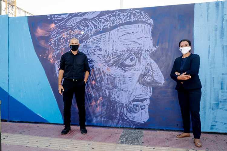 Εικαστική Τοιχογραφία με θέμα τη θάλασσα, στο Δήμο Πειραιά Καββαδίας