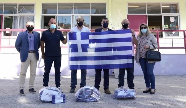 Ελληνική σημαία για κάθε μαθητή στο Δήμο Ελληνικού-Αργυρούπολης