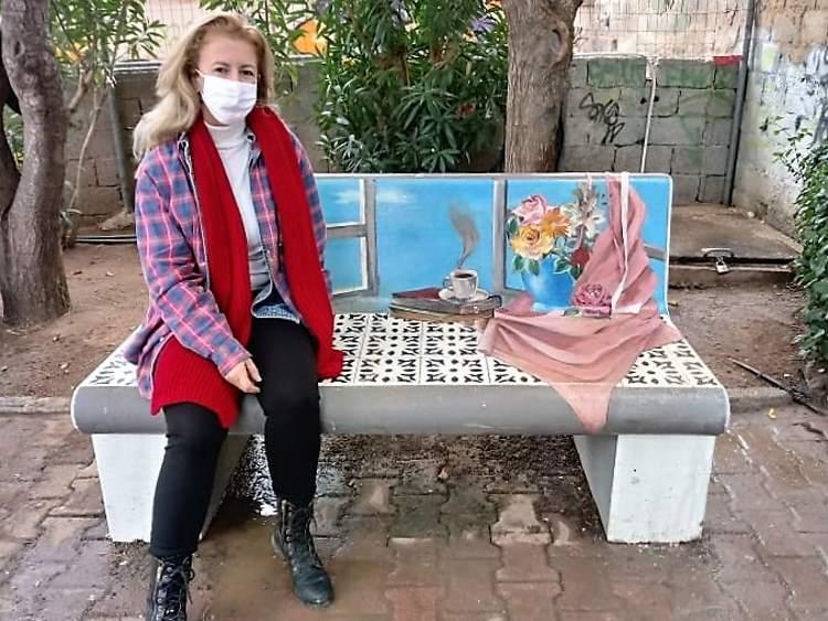 ΖωγραφίΖΟΥΜΕ την Πετρούπολη Παγκάκι 1 με την κα Φωτεινή Καβαλάρη