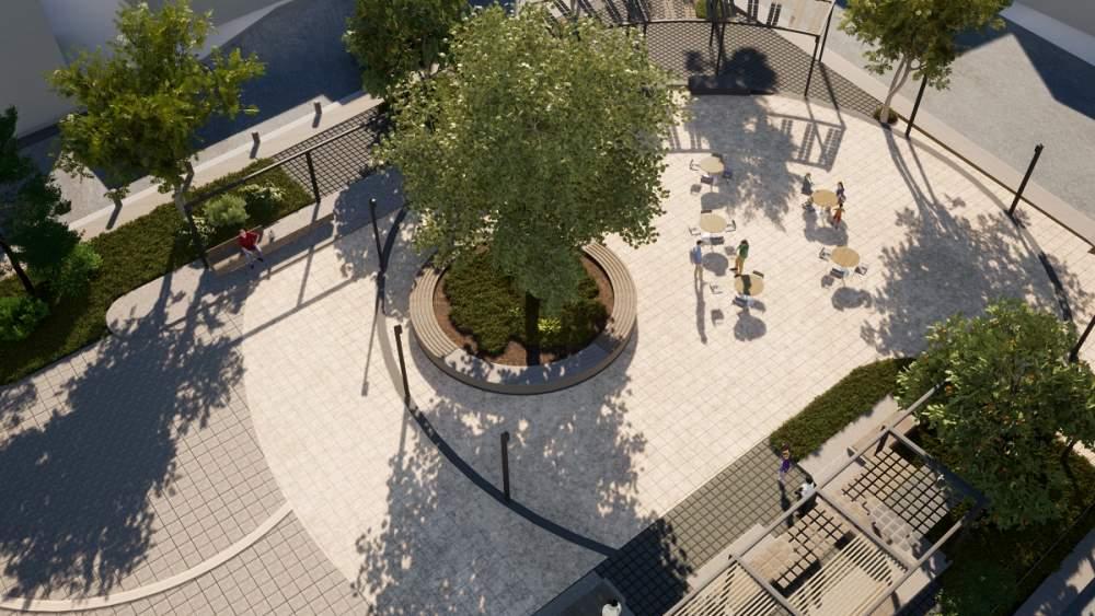 Νέα Πλατεία στα Καλύβια του Δήμου Ελασσόνας (ΦΩΤΟ) Μακέτα