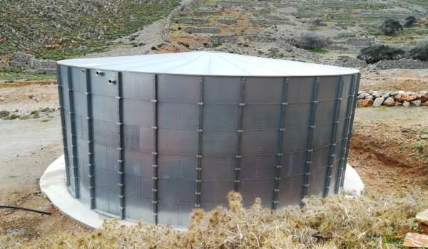 Νέα μεταλλική δεξαμενή ύδρευσης στην Κάσο