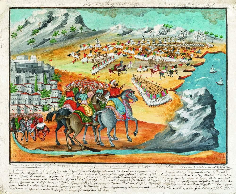 Ψηφιακό Μουσείο από τον Δήμο Σπάρτης με θέμα τον Παναγιώτη Ζωγράφο Πίνακας Η Μάχη της Λαγκάδος Κομπότι και Πέτα, 1836-39