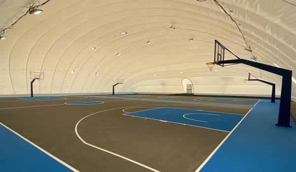 Λυόμενο στέγαστρο σε 2 γήπεδα μπάσκετ στο Αθλητικό Κέντρο Χολαργού