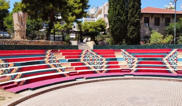 Η Πλατεία Εθνικής Αντίστασης (Ταπητουργείου) στον Βύρωνα «ντύνεται» με street art