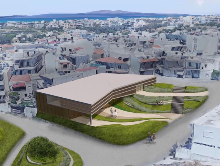 Ένα κτίριο-κόσμημα για τον Πολιτισμό στο Μαλεβίζι Μακέτα