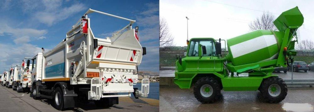 Νέα οχήματα και μηχανήματα για τον Δήμο Οροπεδίου Λασιθίου Τα 2 βαρέα οχήματα
