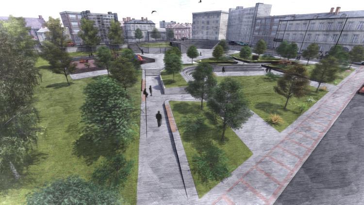 Ολική ανάπλαση στην Πλατεία Α.Παπανδρέου στον Δήμο Ζηρού Μακέτα Πάρκου 2