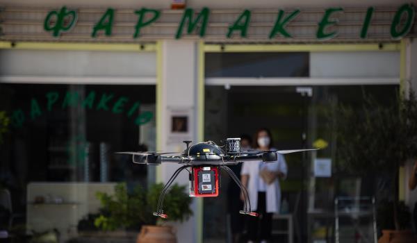 Φάρμακα με drone στα Τρίκαλα